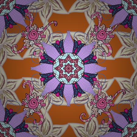 Vector oriental ornament frame with decorative colored foil. Design for fashion banner, label, bridal shower or wedding invitation. Back. Illustration