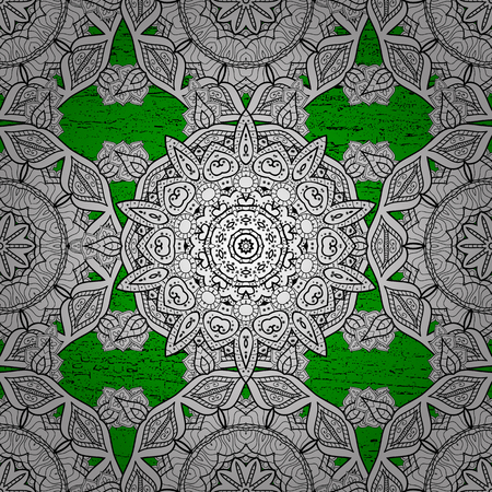 Paisleys elegant floral vector pattern background sketch illustration with vintage stylish beautiful modern 3d line art rough and green paisley flowers leaves and ornaments.