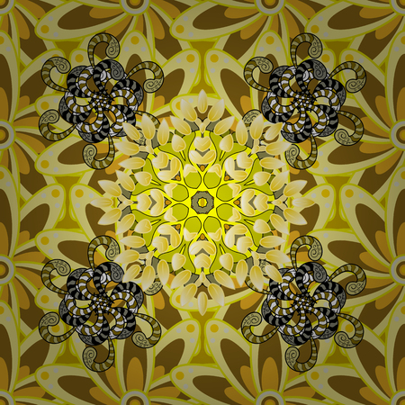 varied: Vector illustration of flowers. Seamless pattern with flowers on motley background. Illustration