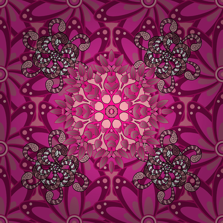 varied: Seamless pattern with flowers on motley background. Vector illustration of flowers.