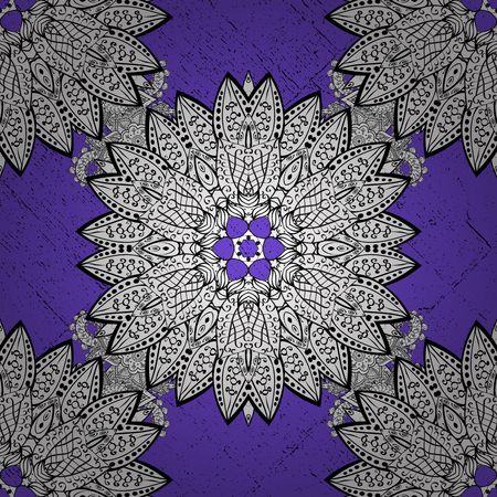 White pattern on violet background with white elements. Vector geometric background. For your design, sketch. White color illustration.