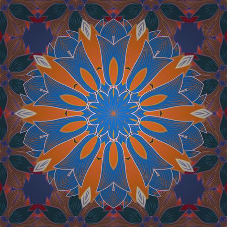 꽃 모티브로 원활한 패턴입니다. 다채로운 꽃, 수채화와 원활한 플로랄 패턴입니다. 벡터 꽃 그림입니다.