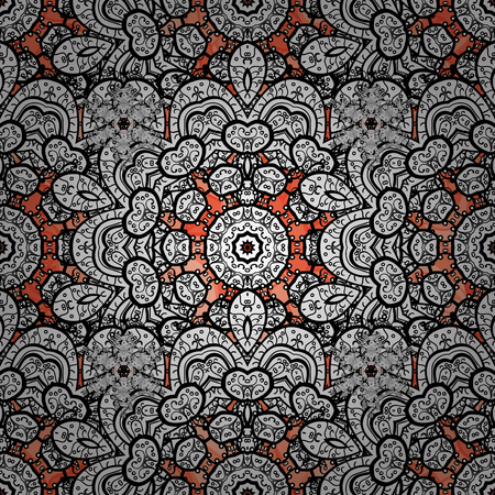 baroque border: Seamless pattern for adult coloring book. Floral doodle. Ethnic, floral, retro, doodle, vector, tribal design element. Zentangle style. Background.
