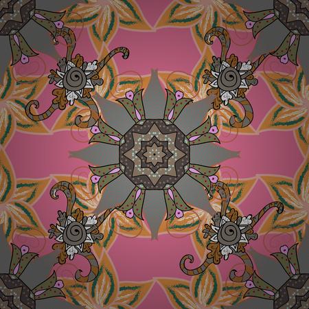 낭만적 인 디자인, 장식, 인사말 카드, 포스터, 섬유 인쇄 및 직물에 대 한 배치에 대 한 끝없는 벡터 텍스처. 화려한 색상 밝은 여름 꽃과 꽃 원활한 패 일러스트