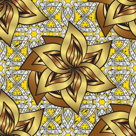 baroque border: Classic golden pattern.