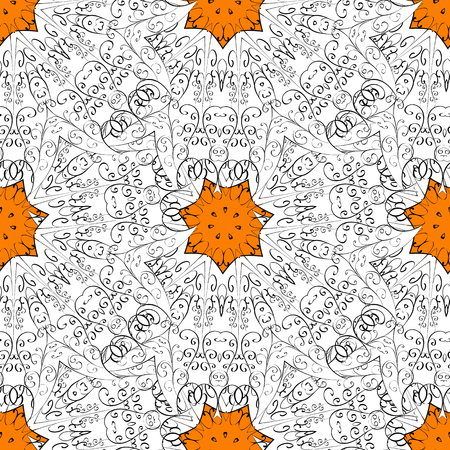 Orange spotted Vector illustration. Beautiful pattern with abstract flowers