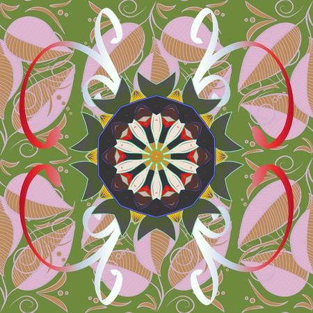 Design for fashion banner, label, bridal shower or wedding invitation. Back. Vector oriental ornament frame with decorative colored foil. Illustration