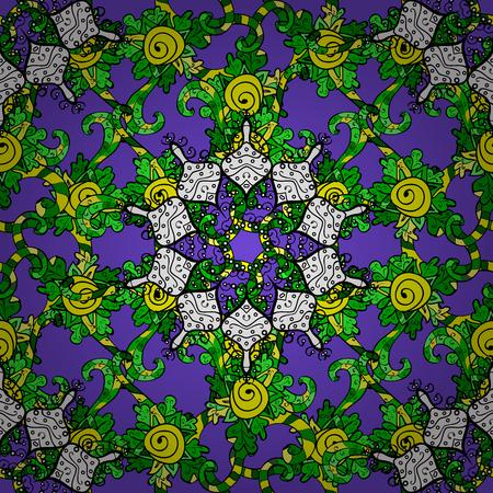 Hand drawing with elegant element on a violet background. Vector illustration.