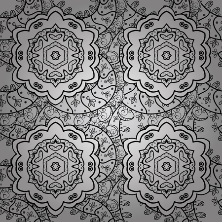 textiles: Vector ethnic pattern can be used for sketch, pattern fills, coloring books and pages for kids and adults. Doodle background in vector with doodles, flowers and paisley.