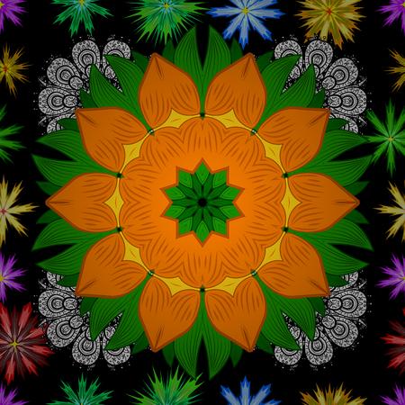 Abstract Mandala on a pattern. Vector illustration.