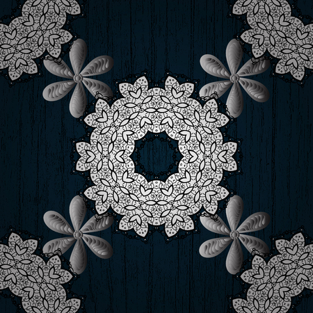 Damask seamless repeating pattern. White floral ornament in baroque style.