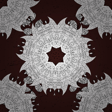 Background. Brown spotted Vector illustration. Brown background. Beautiful pattern with abstract flowers.