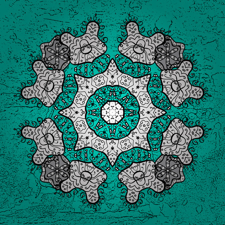 Traditional vector and white pattern. Classic oriental background. Damask ornament.