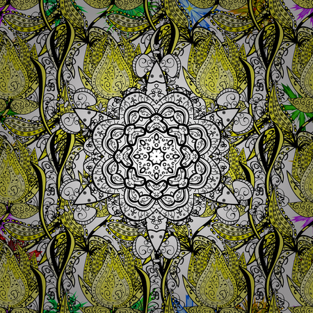 mantra: Hand painted vector mandala, colored on white background, indian peacock, indian pattern, colored mandala, mandala peacock.