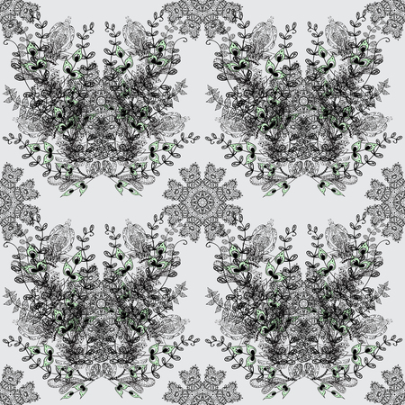 Traditional orient ornament. Dim pattern on gray background with dim elements. Classic vintage background. Seamless classic vector dim pattern.