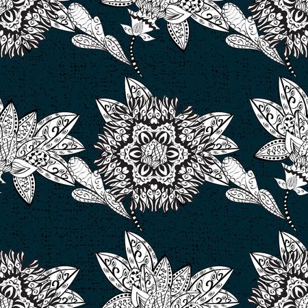 Pattern floral pattern. Vector background. Graphic modern pattern. Sketch baroque, damask. Векторная Иллюстрация