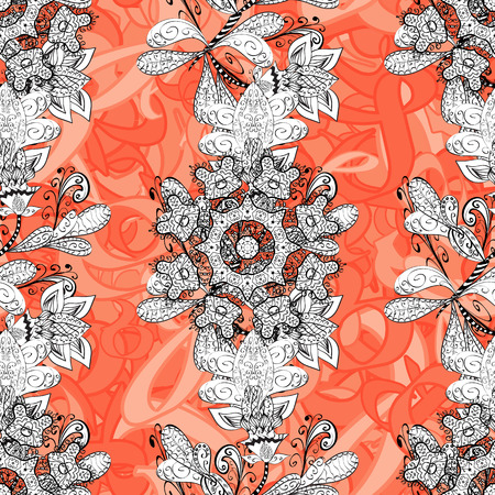 Paisleys elegant floral vector seamless pattern background sketch illustration with vintage stylish beautiful modern 3d line art white and paisley flowers leaves and ornaments.