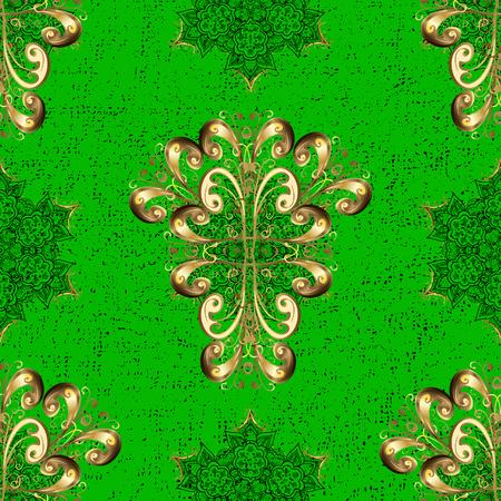 Sketch baroque, damask. Graphic modern pattern. Vector background. Pattern floral pattern. Illustration