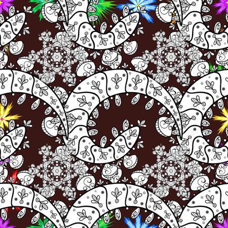 Colored mandala on background. Mandala style. Vector illustration. Rich ethnic striped seamless pattern geometric design.