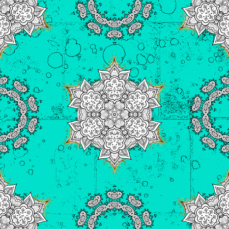 drapes: Traditional orient ornament. Classic vintage background. Classic vector blue and golden pattern.