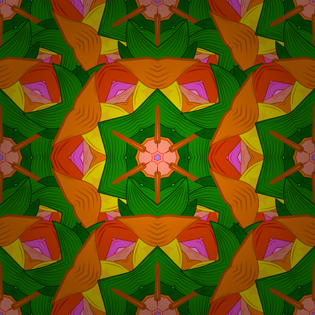 Vector flower concept. Summer design. Leaf natural pattern in colors. Seamless floral pattern can be used for sketch, website background, wrapping paper.
