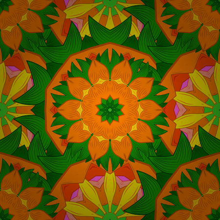 Endless vector texture for romantic design, decoration, greeting cards, posters, wrapping, for textile print and fabric. Floral seamless pattern with bright summer flowers in colors.