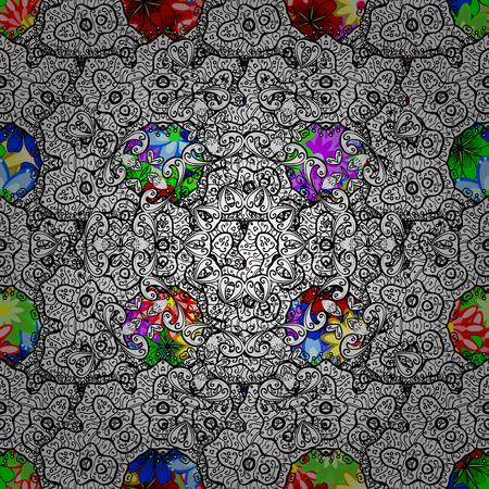 만다라와 원활한 패턴입니다. 벡터 장신구, 배경입니다. 추상 장식와 원활한 패턴입니다.