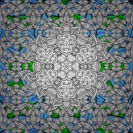 메리 크리스마스, 해피 뉴 이어 제품. 꽃잎 배경에 벡터와 원활한 패턴입니다. 랩, 스케치, 배경 및 스크랩북 용.