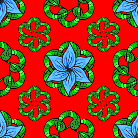 rug texture: Vector illustration with many colorful flowers. Trendy seamless floral pattern.