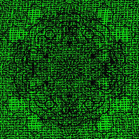 mantra: Oriental colored pattern on green background. Abstract Mandala. Vintage decorative elements. Islam, Arabic, Indian, turkish, pakistan, chinese, ottoman motifs. Vector illustration.