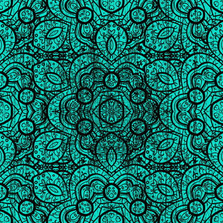 tough: Traditional vector and black pattern. Classic oriental pattern over blue background. Damask ornamental ornament.