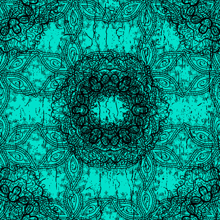 tough: Blue vector ethnic elements ornamental pattern.