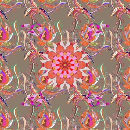 Orientalischer Ornamentrahmen des Vektors mit dekorativer farbiger Folie. Entwerfen Sie für Modebanner, Aufkleber, Brautparty oder Hochzeitseinladung. Lila zurück. Standard-Bild - 77611974
