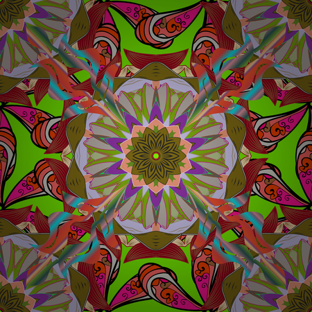 admirable: Spiritual and ritual symbol of Islam, Arabic, Indian religions. Mandala on colorful background. Geometric circle element in glod colors. Vector Round Ornament Pattern.