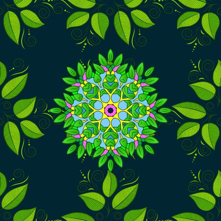superlative: Anti-stress mandala. Colorful mandala. Yoga logo, background for meditation poster. Oriental flourish vector. Indian flower mandala. Decorative colored round ornament.