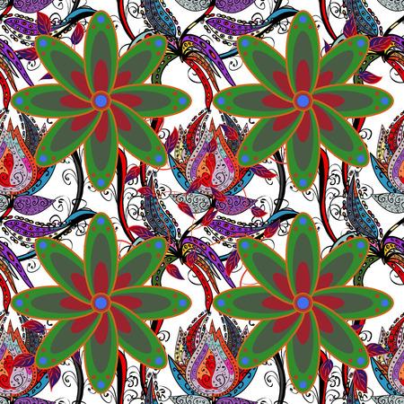 oriental vector: Design for fashion banner, label, bridal shower or wedding invitation. White back. Vector oriental ornament frame with decorative colored foil.