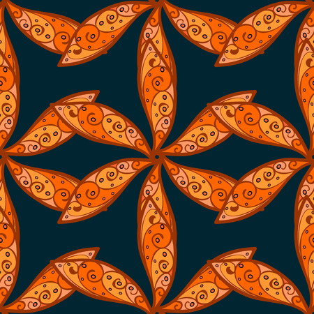 fertile: Seamless pattern with many small orange flowers. Seamless floral pattern. Vector abstract floral background. Illustration
