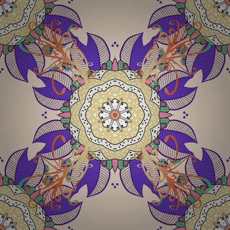 superlative: Vector colored design abstract mandala sacred geometry illustration on a green background.