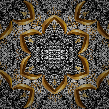 Sketch baroque, damask. Seamless vector background. Seamless floral pattern. Graphic modern seamless pattern on gray background.