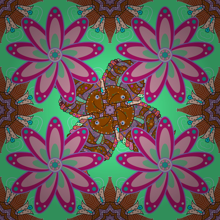 spiritual energy: Hand-drawn vector mandala with colored abstract pattern on a gray background. Bag design. Illustration