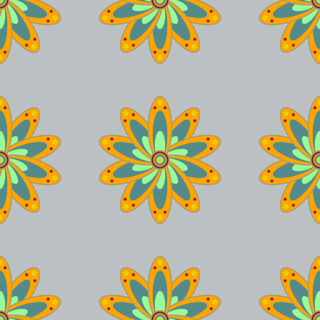 Seamless exotic pattern with many tropical flowers. Blooming jungle. Motley vector illustration. Illustration