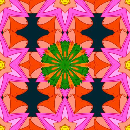 admirable: Invitation Card, Scrapbooking. Christmas Card Mandala Design. Decorative Indian Round Mandala on blue background. Vintage pattern. Islam, Arabic, Indian, Turkish, Pakistan. Colored over blue.