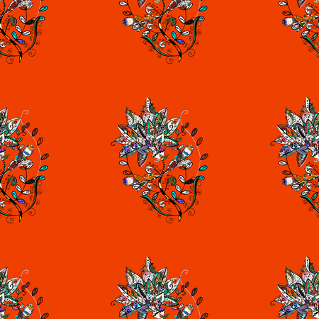 Motley vector illustration. Seamless exotic pattern with many tropical flowers. Blooming jungle. Illustration