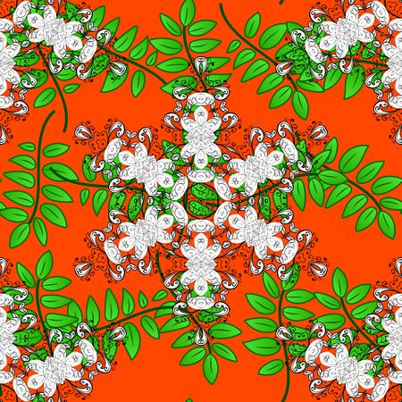 oriental vector: Islam, Arabic, Indian, turkish, pakistan, chinese, ottoman motifs. Oriental pattern. Vintage vector decorative elements. Colored Mandalas on orange background. Illustration