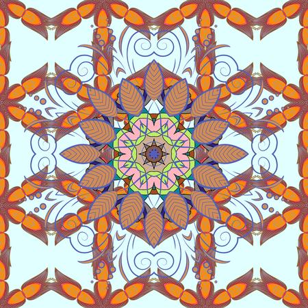 Seamless pattern with Mandalas. Vector ornaments, background. Seamless pattern with abstract ornament.