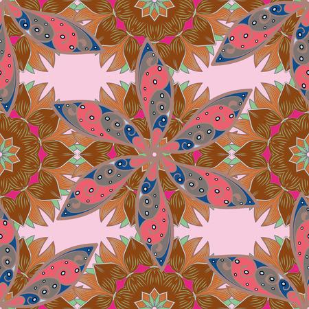 admirable: Vector ornaments, background. Seamless pattern with abstract ornament. Seamless pattern with Mandalas.