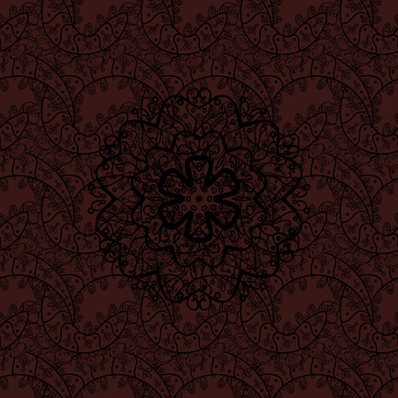 oriental vector: Brown on background. Oriental ornament in the style of baroque. Vector traditional classic dark pattern. Illustration