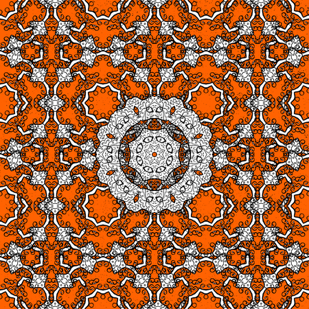 oriental vector: Classic oriental background. Damask ornament. Traditional vector and white pattern.