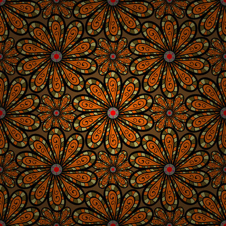 Decorative vector ornate colored mandala icon isolated for card, colored Mandala on a blue background. For invitation card, scrapbook, banner, postcard, tattoo, yoga, boho, magic, carpet, tile or lace