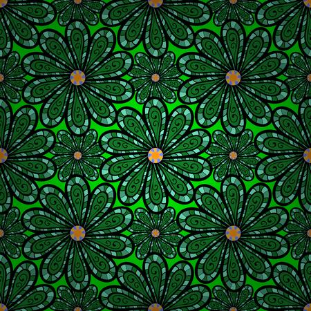 oriental vector: Islam, Arabic, Indian, turkish, pakistan, chinese, ottoman motifs. Vintage decorative elements. Abstract Mandala. Oriental colored pattern on blue background. Vector illustration. Illustration